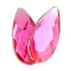 Acrylic 17x9mm Pear Shape Facet Hot Pink